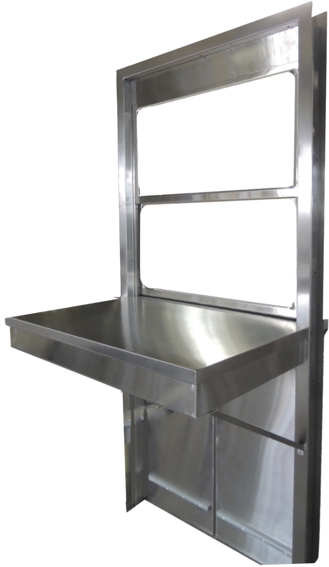 Pass Through Window Assembly Hospital Stainless Steel