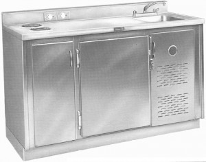 Hospital and Emergency Room Refrigerator and Sink Unit Continental Metal Products