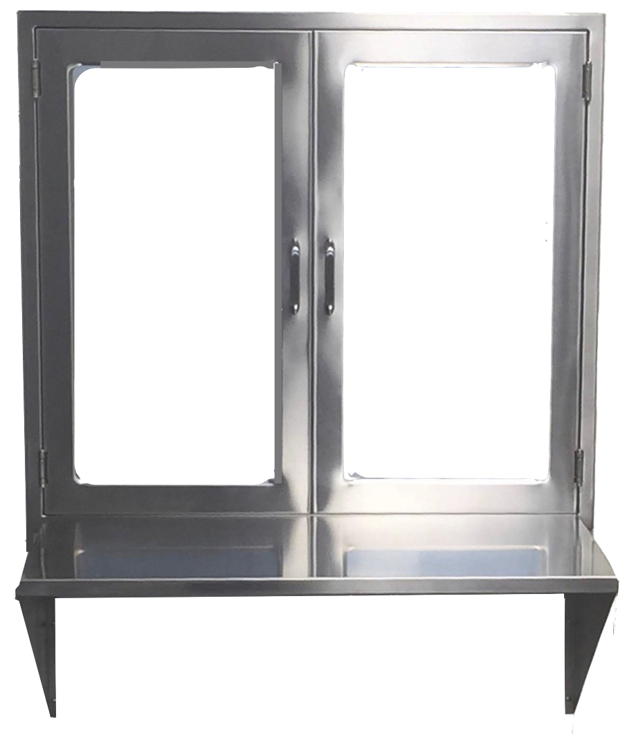 ... hospital pass through window assembly with double doors set down counter  sc 1 st  Continental Metal Products Healthcare Division CMP | Blanket & Pass Through Window Assembly | Continental Metal Products ... pezcame.com