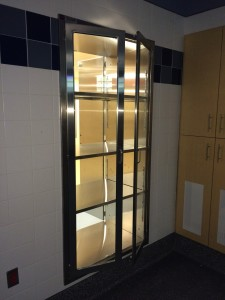 Stainless Steel Hospital Pass Through Cabinets  Pharmacy Anteroom Room installation