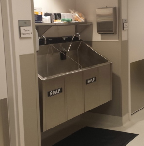 Dual Bay Surgical Scrub Sink Continental Metal Products