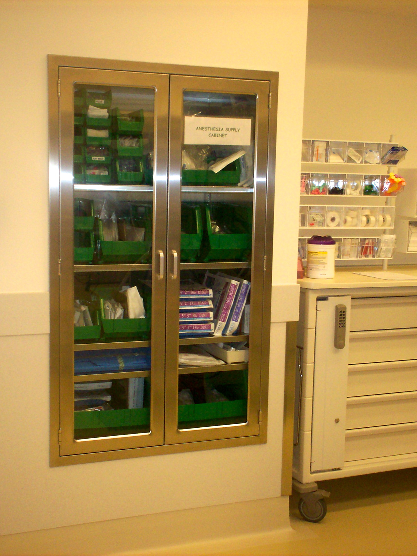 Endoscopy Room Design: Anesthesia Supply Cabinet For Operating Room