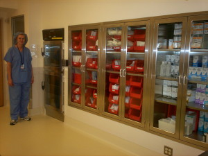 Operating Room Recessed Stainless steel Cabinets for Inventory Storage