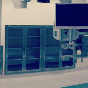 Stainless Steel Operating Room Storage Cabinets installation