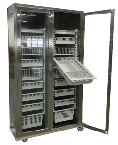 Stainless Steel Mobile Modular Surgical Storage Cabinet with baskets and trays