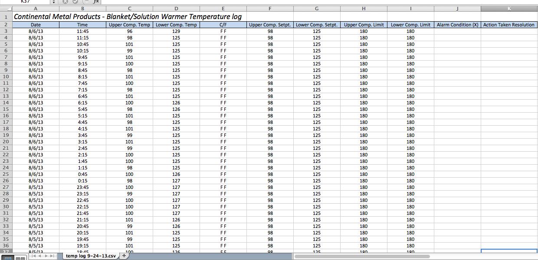 Quot Quick Temp Quot Temperature Monitoring System Continental