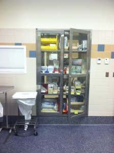 Continental Metal Products' Stainless Steel OR Pass Through Cabinet Hospital Installation