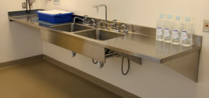 CMP stainless steel two sink workstation for Sterile Processing Department or Central Sterile Supply