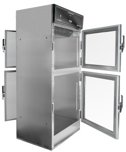 Pass through Warming Cabinet for operating rooms, Hospital Blankets and Solutions can be passed through from the sterile core to the OR, with the opposing doors locking via electronic interlock