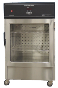 "CMP DSW1AE 45"" High Single compartment Warming Cabinet with glass doors and casters"