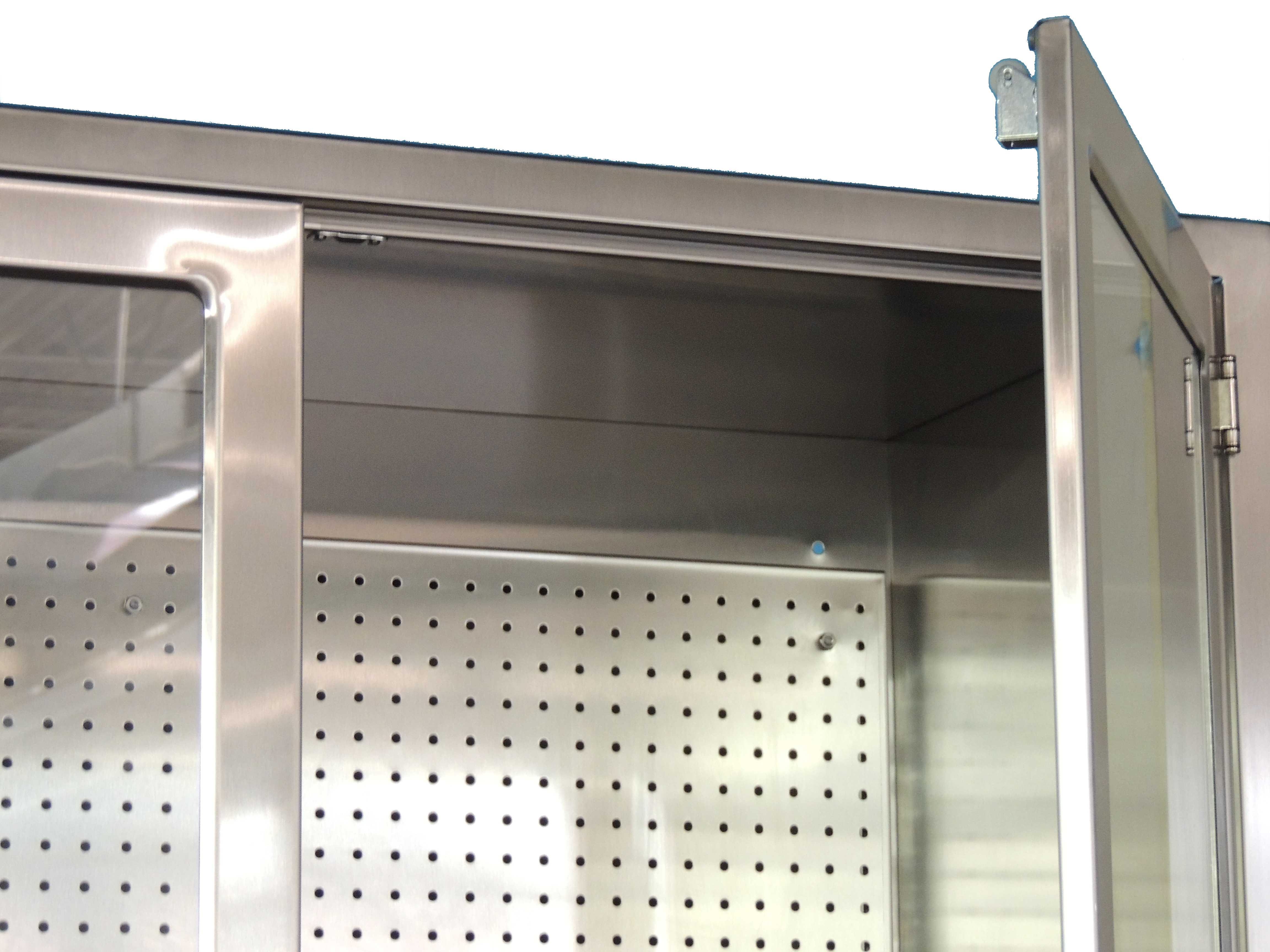 Stainless Steel Storage Cabinet With Pegboard Continental Metal - Stainless steel table accessories
