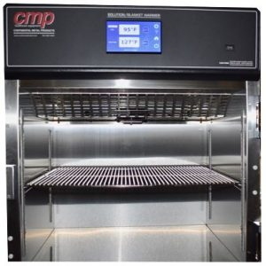 Dual Compartment Warming cabinet with touchscreen and glass door