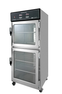 DSW2AE Medical Dual Chamber Warming Cabinets or blanket warmer with glass doors and casters