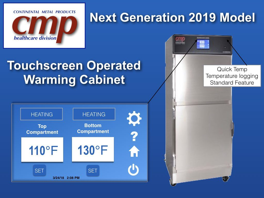 Learn more about Warming Cabinet Temperature Guidelines on CMP's Youtube - Demonstrates Warming Cabinet Temperature Guidelines