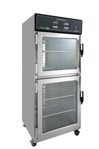 Mobile Dual Chamber Warming Cabinets with Casters from CMP warms hospital blankets and solutions in two individually controlled chambers