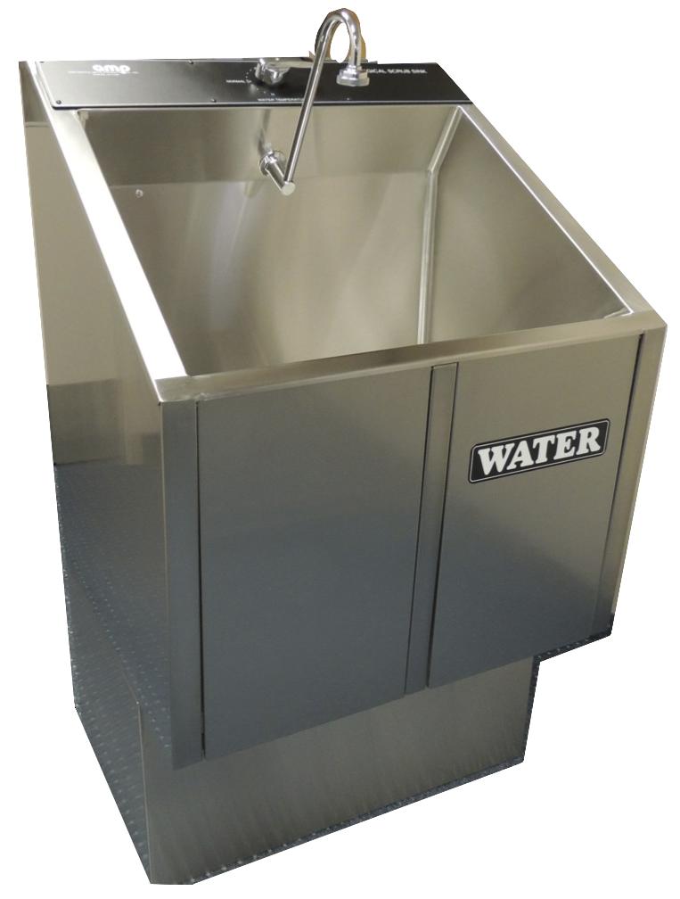 Single Bay Scrub Sink One Bay Unit Saves Space