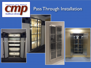 Hospital Pharmacy Pass Through Cabinets with Interior Lighting for easy viewing of supplies from Continental Metal Products
