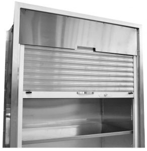 Stainless Steel Surgical storage with Locking Roll-up tambour door