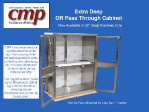 Extra Deep Stainless Steel Pass Through Cabinet for OR, Pharmacy or Clean Room. Deep enough to accommodate transfer of Carts.