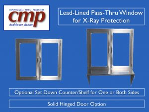 Lead Lined Pass Through Window with X-ray Safety Glass