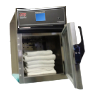 Mini Hospital Blanket Warmer with Touchscreen fits on countertop in hospitals & medical facilities