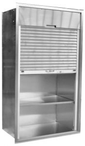 Roll-up Automated Tambour Doors on Stainless Steel Operating Room Cabinets