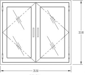 "Pass Through Chamber with interlocking doors meets USP 800 and 797- dimensions 36"" x 32"""