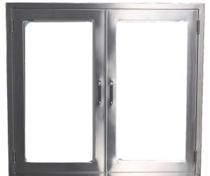 Pass through chamber with interlocking doors meeting USP 800 requirements in Stainless Steel From CMP