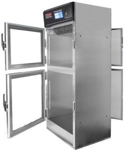 Pass thru warming cabinet with touchscreen