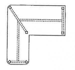 L-shaped OR nurse documentation desk