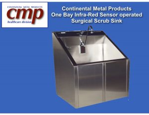 1-bay sensor operated scrub sink with Massachusetts Board of Registration of plumbers approval