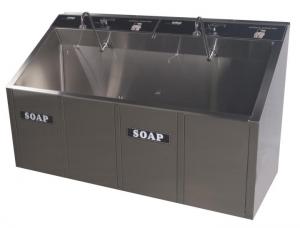 Automatic 2- Bay Surgical Scrub Sink, CMP Model 2-63A