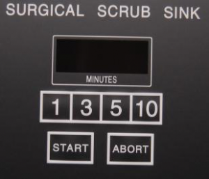 Continental Metal Products' Surgical Scrub Sink's digital timer