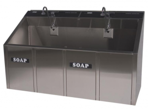 2-Bay Electronic Surgical Scrub Sink (infrared) CMP Model 2-63E