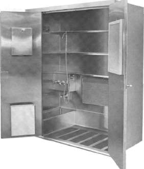 Stainless Steel Hospital Janitors Closet from Continental Metal Products