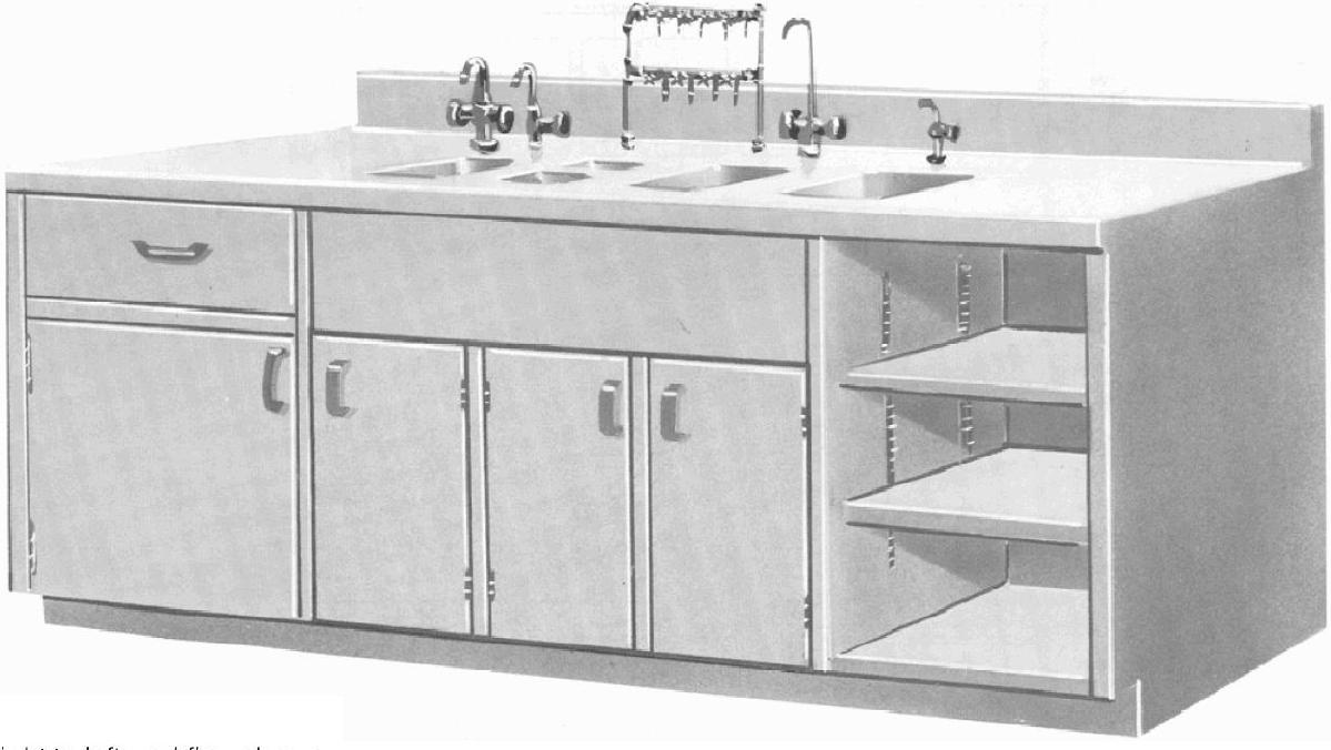 Continental Metal Products Custom Casework Base Wall Cabinets And Counter Tops