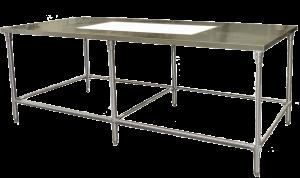 Hospital linen Inspection Table
