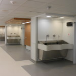Special Custom Designed Surgical Scrub Sink with Aesthetic Panel