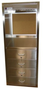 CMP SC3 Series - Stainless steel Operating Room desk cabinet with writing surface and drawers