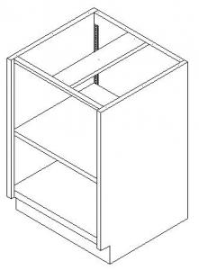 CMP Stainless Steel Base Cabinet Open Shelf Cupboard
