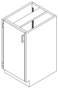 CMP Stainless Steel Base Cabinet - Hinged Door Cupboard
