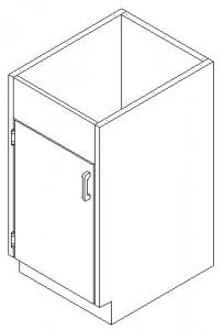 CMP  Stainless Steel Healthcare Casework Base Cabinet - Hinged Door Sink Cabinet