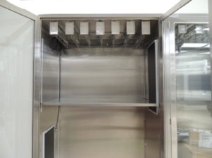 storage cabinets with adjustable Stainless Steel shelf and catheter slides