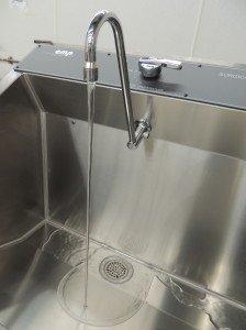 Non-splash Continental Metal Products scrub sink
