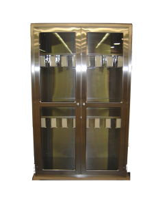 Recessed Stainless Steel Catheter Cabinet