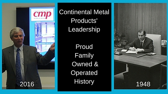 Continental Metal Products' President Paul Siegal and Founder Harry Siegal