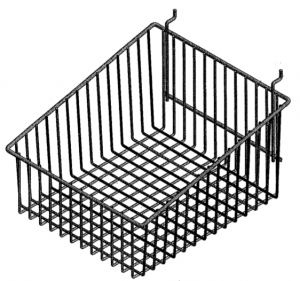 Stainless Steel Hospital Pegboard Basket attaches to CMP Instrument board to hold OR instruments and equipment