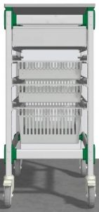 Operating Room Surgical Supply restocking cart