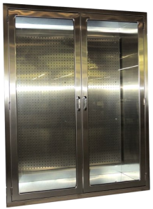 Recessed Cabinet for Surgical Instrument Storage in OR or SPD