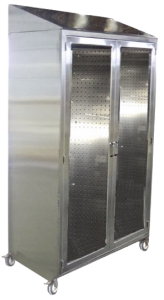 mobile instrument storage cabinet with pegboard with caster and locks for Hospital SPD and OR
